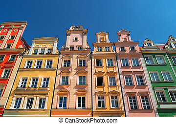 Colorful houses on Market square, Wroclaw, Poland
