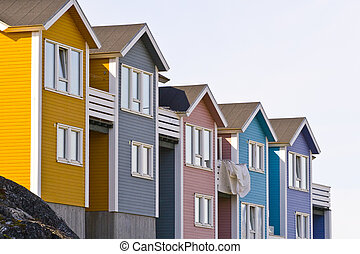 Colorful houses - Very colorful and typical architecture in...