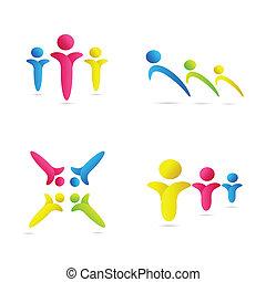 colorful human icons