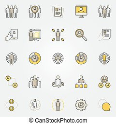 Colorful human resources icons