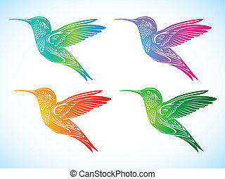 colorful hummingbird 2