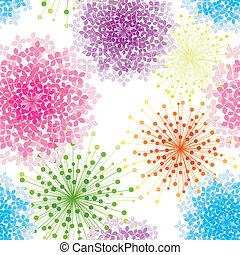 Colorful Hydrangea Flower Seamless Background