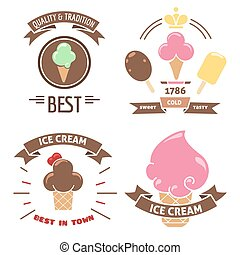 Colorful ice cream banners