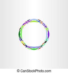 colorful icon design abstract circle logo vector