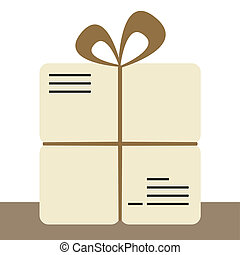 Colorful icon for parcel or sending via post