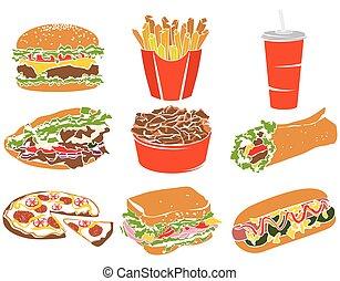 Colorful Icon Set Fast Food I