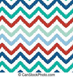 Colorful ikat chevron seamless pattern background