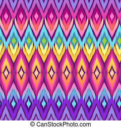 colorful ikat print - seamless background