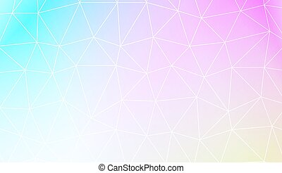 v - Colorful illustration in abstract polygonal pattern with...