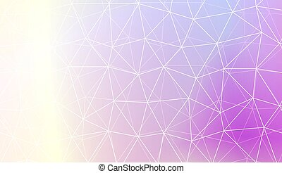 Colorful illustration in abstract polygonal pattern with...
