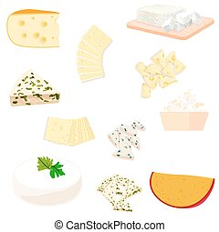 Colorful illustration of cheese
