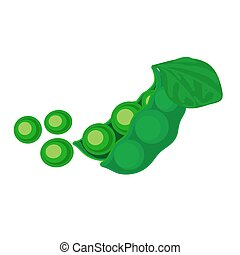 Colorful illustration of green peas