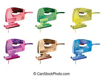 Colorful Illustration Set of Jigsaw Power Icons