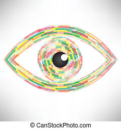 eye icon - colorful illustration with abstract eye icon on...