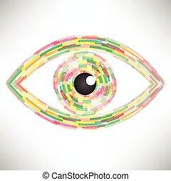abstract eye icon