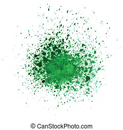 abstract  green watercolor blot