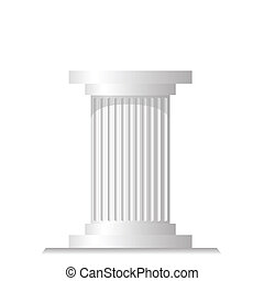 ancient column - colorful illustration with ancient column ...