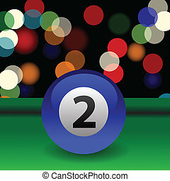 billiard ball - colorful illustration with blue billiard...