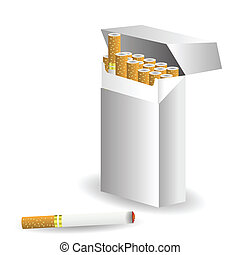cigarettes - colorful illustration with cigarettes for your...