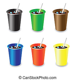 cola - colorful illustration with cola for your design