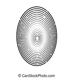 Colorful Illustration With Fingerprint On A White Background