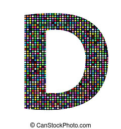 multicolor letter - colorful illustration with multicolor...
