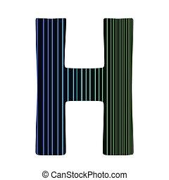 neon letter H