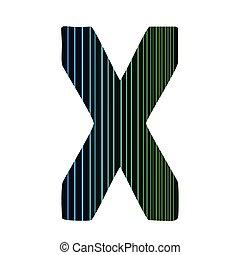 neon letter X
