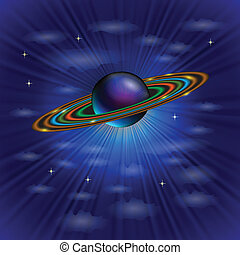 planet from solar system - colorful illustration with planet...