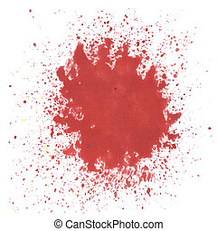 red watercolor blot