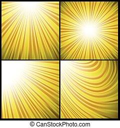 set of sun backgrounds