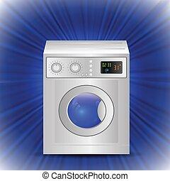 washing mashine - colorful illustration with washing mashine...