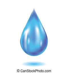water drop - colorful illustration with water drop on a ...