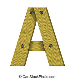 wood letter A