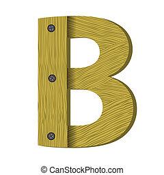 wood letter B