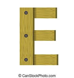 wood letter E
