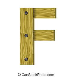 wood letter F