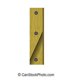 wood letter I
