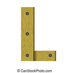 wood letter L