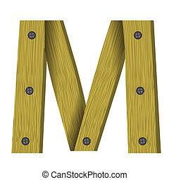 wood letter M