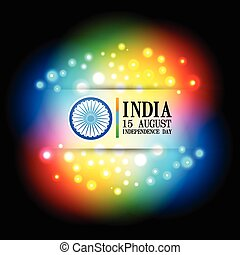 colorful indian flag design
