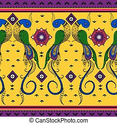 Colorful Indian tribal seamless pattern