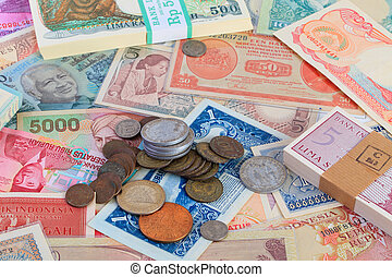 Indonesian Currency - Colorful Indonesian Currency bank...