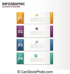 Colorful Infographic elements set