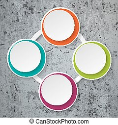 Colorful Infographic Paper Lifecycle Concrete