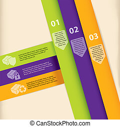 Colorful infographic template design