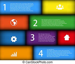 Colorful Infographic Template with place for your content