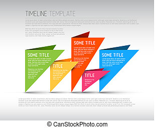 Colorful Infographic timeline report template