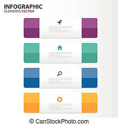 Colorful Infographics elements set