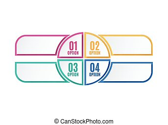 Colorful infographics options, four steps.